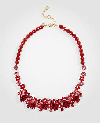 Ann Taylor Flower Pom Necklace
