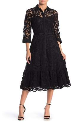 Nanette Lepore Lace Midi Shirt Dress