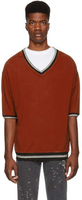 Enfants Riches Deprimes Red Checkered V-Neck T-Shirt