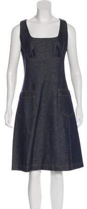 Tomas Maier Denim Knee-Length Dress