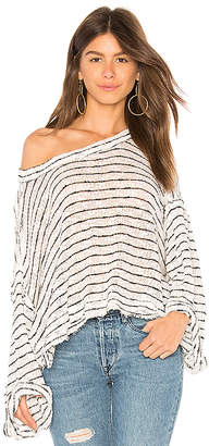 Free People Striped Island Girl Hacci Top