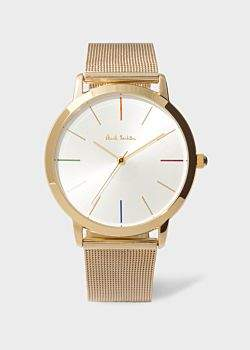 Paul Smith Men's White And Gold 'Ma' Watch