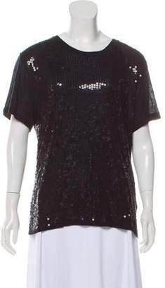 8648c9a65649b Chloé Sequin-Embellished Short Sleeve Top