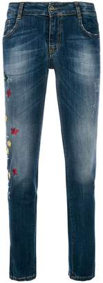 Blugirl floral embellished jeans