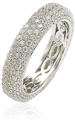 LeVian Suzy Jewelry Suzy Sterling Silver Cubic Zirconia White Eternity Band Ring