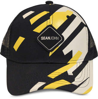Sean John Men Geo Gloss Patch Merrow Edge Mountain Trucker Hat