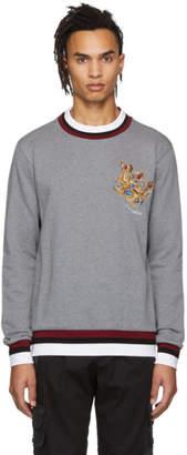 Dolce & Gabbana Grey Crown Sweatshirt