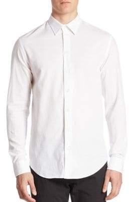 Armani Collezioni Textured Jacquard Sport Shirt