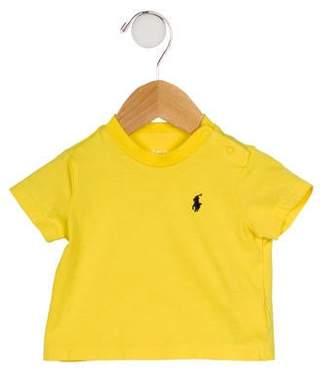 Ralph Lauren Boys' Short Sleeve Crew Neck T-Shirt