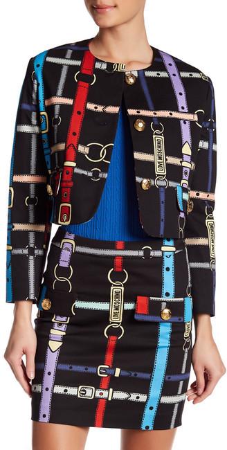 Love MoschinoLOVE Moschino Belt Pattern Jacket