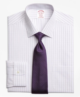 Brooks Brothers Madison Classic-Fit Dress Shirt, Non-Iron Double Split Windowpane