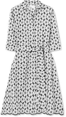 Lisa Marie Fernandez Broderie Anglaise Cotton Dress - White