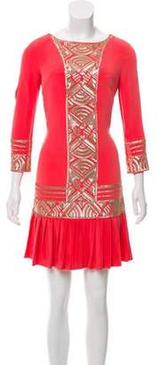 Marchesa Voyage Embellished Mini Dress w/ Tags