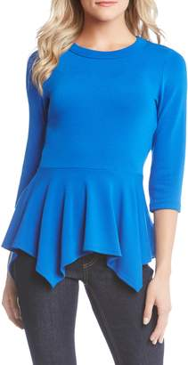 Karen Kane Handkerchief Peplum Sweater