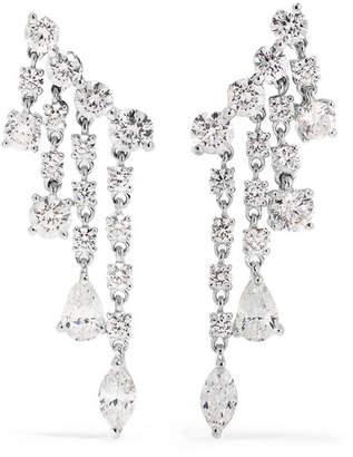 Anita Ko Rain Drop 18-karat White Gold Diamond Earrings - one size