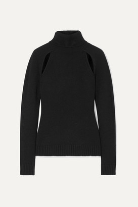Tom Ford Cutout Cashmere Turtleneck Sweater - Black