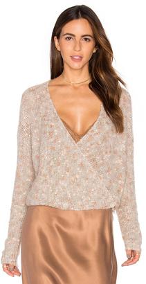 Mes Demoiselles Plumage Wrap Sweater $227 thestylecure.com