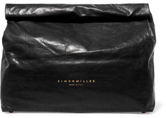 Simon Miller Lunchbag 30 Crinkled-leather Clutch - Black