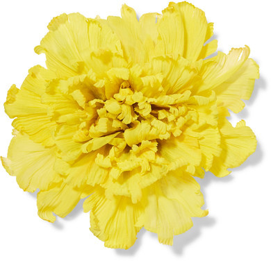 GucciGucci - Oversized Floral Silk Brooch - Yellow
