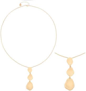 Liz Claiborne Triple Drop Long Gold-Tone Pendant Necklace