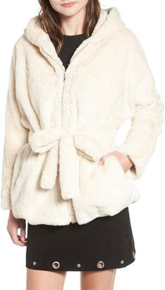 Moon River Faux Fur Hooded Jacket