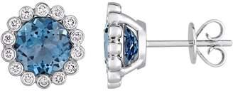 Rina Limor Fine Jewelry Women's 14K White Gold, Diamond & Topaz Earrings