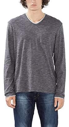 Esprit edc by Men's 086CC2K019 Long Sleeve Top, Black (Black)