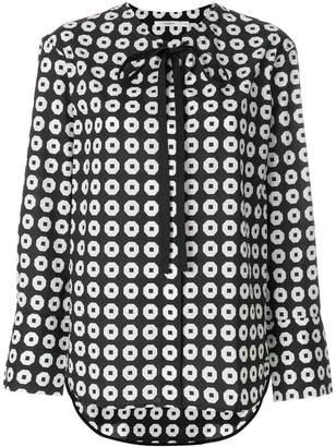 Lareida printed bow blouse