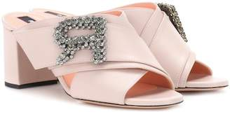 Rochas Embellished leather sandals