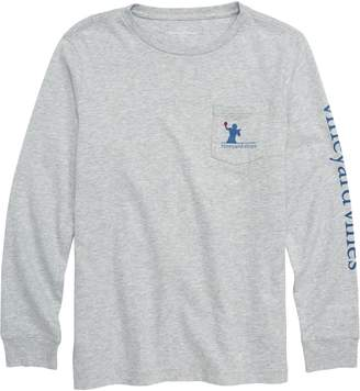 Vineyard Vines Tiptoe Touchdown Pocket T-Shirt