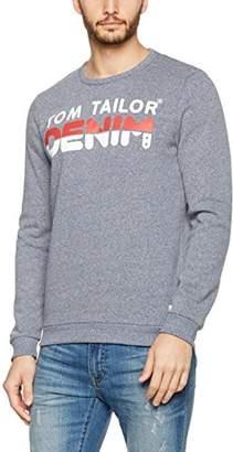 Tom Tailor Men's Crewneck with New Artwork Sweatshirt,Large