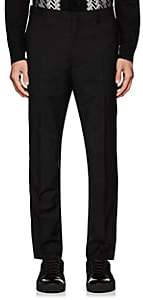 Lanvin Men's Metallic-Striped Wool-Mohair Trousers-Black