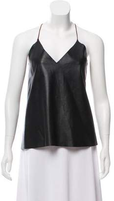 CAMI NYC Leather Sleeveless Top