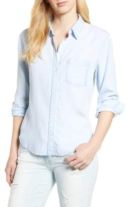 Rails Ingrid Raw Hem Chambray Shirt