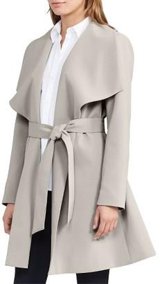 Women's Lauren Ralph Lauren Belted Drape Front Coat $190 thestylecure.com
