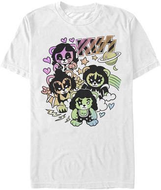 Kiss Men Cute Little Rocker Bears Logo Short Sleeve T-Shirt