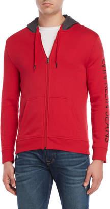 Calvin Klein Jeans Logo Sleeve Zip Hoodie