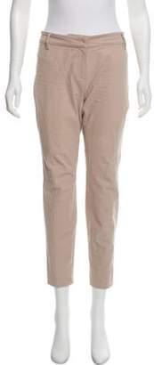 Brunello Cucinelli Mid-Rise Skinny Pants Khaki Mid-Rise Skinny Pants