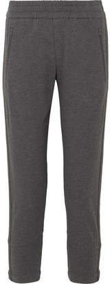 Brunello Cucinelli Embellished Stretch-cotton Jersey Track Pants - Gray