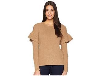 Lauren Ralph Lauren Ruffled Wool-Blend Sweater