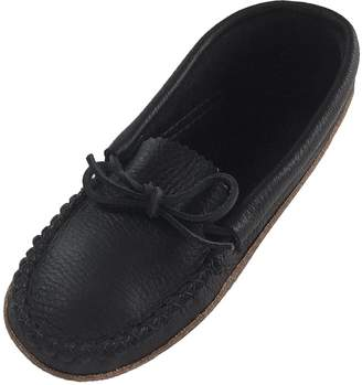 Bastien Industries Women's Earthing Grounding Natural Moosehide Leather Moccasins