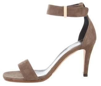 Celine Suede Ankle Strap Sandals