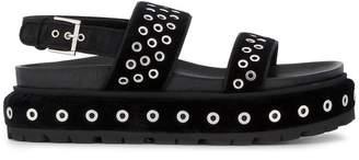 Alexander McQueen Two Strap Flatform Sandals