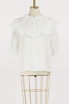 See by Chloe Broderie anglaise top
