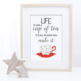 KitchenArt Beau Typographie Cup Of Tea Typography