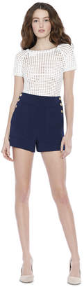 Alice + Olivia Donald High Waist Side Button Shorts