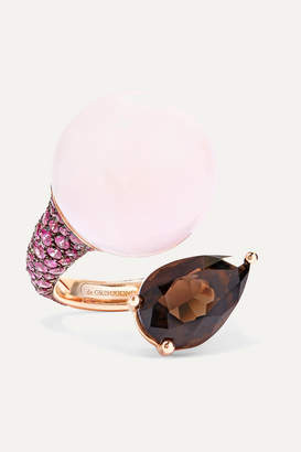 de GRISOGONO - Boule 18-karat Rose Gold Multi-stone Ring