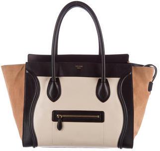 CelineCéline Tricolor Shoulder Luggage Tote