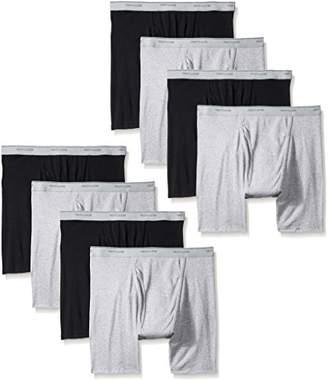 Fruit of the Loom Men's 8 Pack Black/Gray Boxer Brief