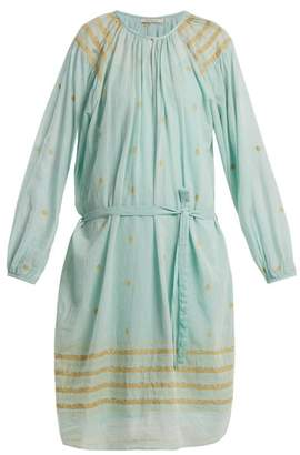 Mes Demoiselles Tenerife Embroidered Cotton Dress - Womens - Blue